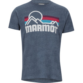 Marmot Coastal Camiseta Manga Corta Hombre, navy heather